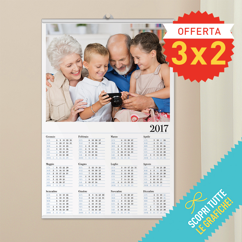 Calendario Rikorda.Calendario Poster 30 45 Cm Gira E Volta