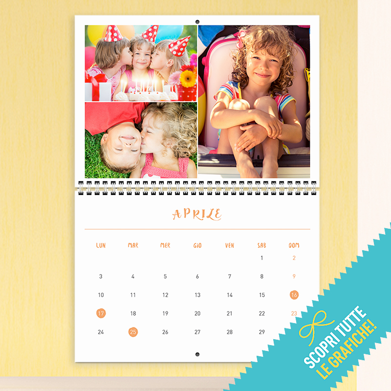 Calendario Rikorda.Calendario Multipagina 29 42 Cm Happy Days