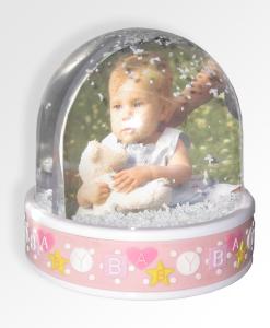 photoglobo baby rosa